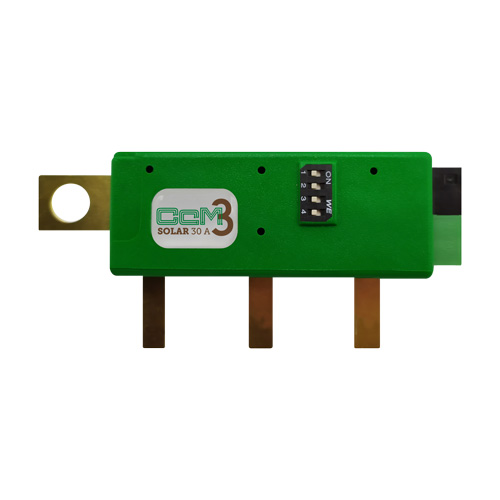Medidor de corriente DC fotovoltaica para submetering CcM3-Solar 30 A
