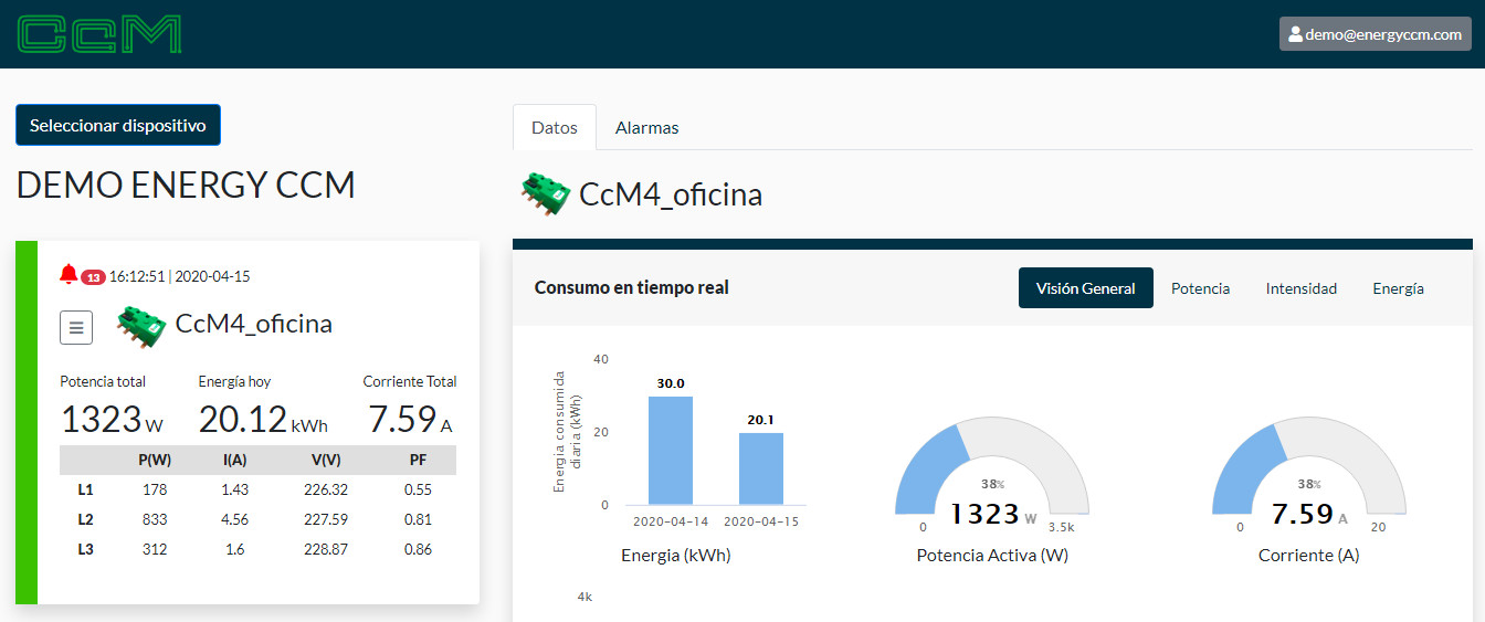 Energy CcM software para monitoreo