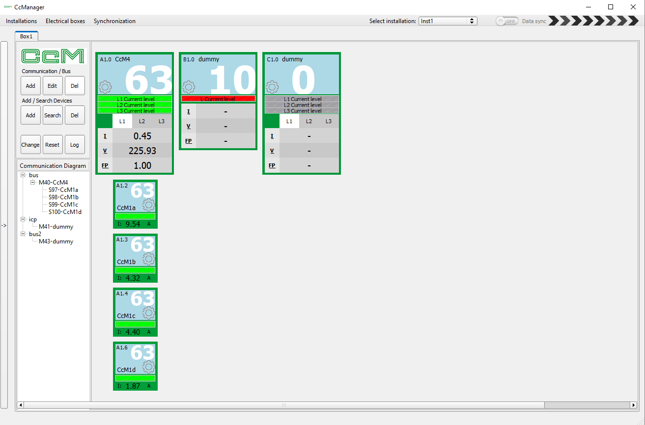 Software CcManager para Smart Meter